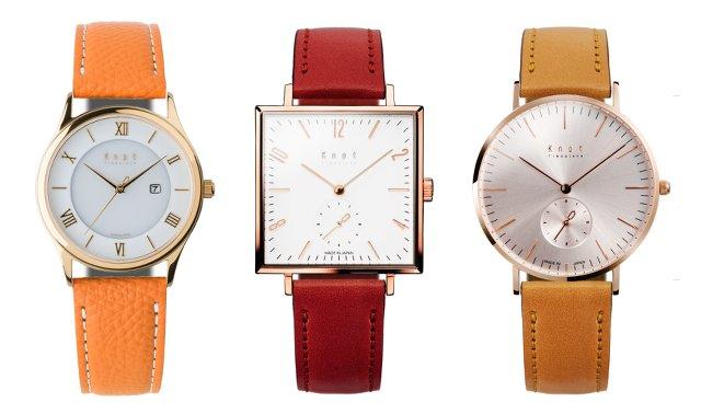 ノットのレディース時計、ピンクゴールド