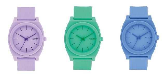 ニクソンンの時計タイムテラー、緑 青 紫