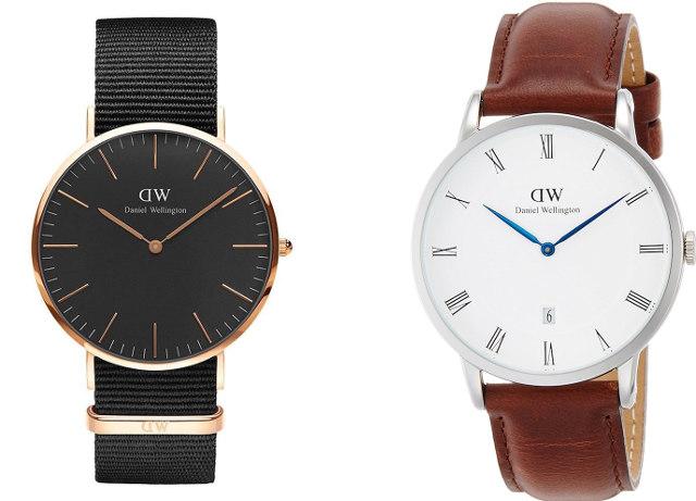 ダニエルウェリントン  黒 茶色 腕時計