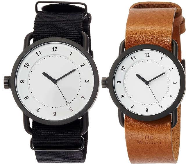 ティッドウォッチ 腕時計 黒 茶