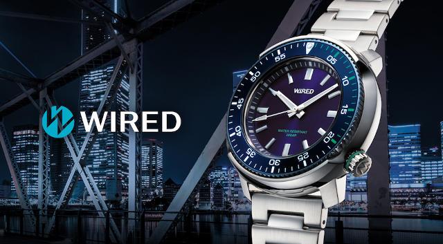 ワイアード メンズ時計 広告