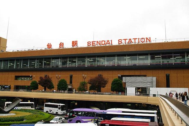 仙台の茶色い建物