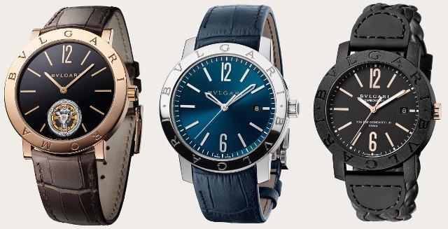 ブルガリブルガリの時計ブラックとシルバー