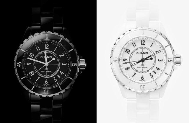 シャネルのJ12の時計黒と白