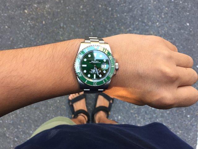 116610lvグリーンサブマリーナ