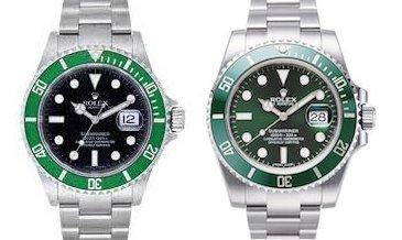 ロレックスの新型と旧型グリーンサブマリーナ116610lvと16610lv