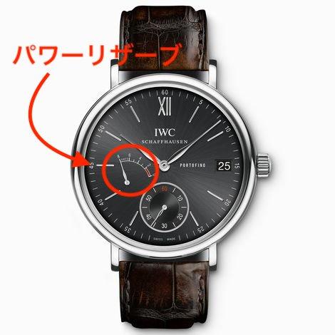 IWCのパワーリザーブの時計