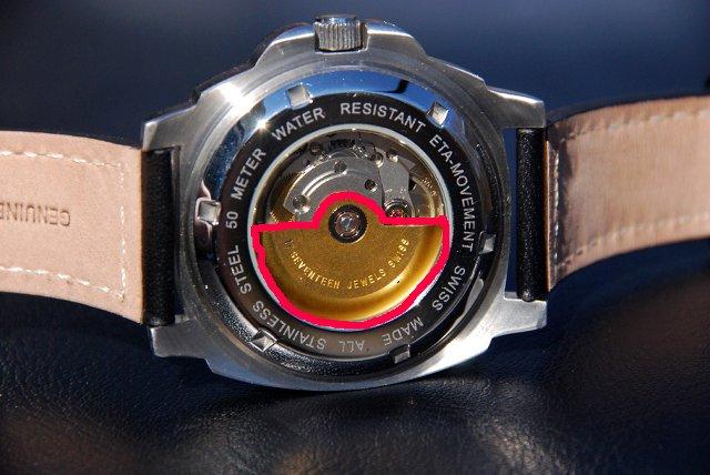 ETA自動巻時計のローター