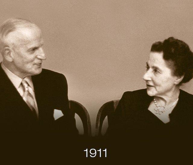 エベルの時計の夫ユージン・ブルムと、その妻アリス・レヴィ