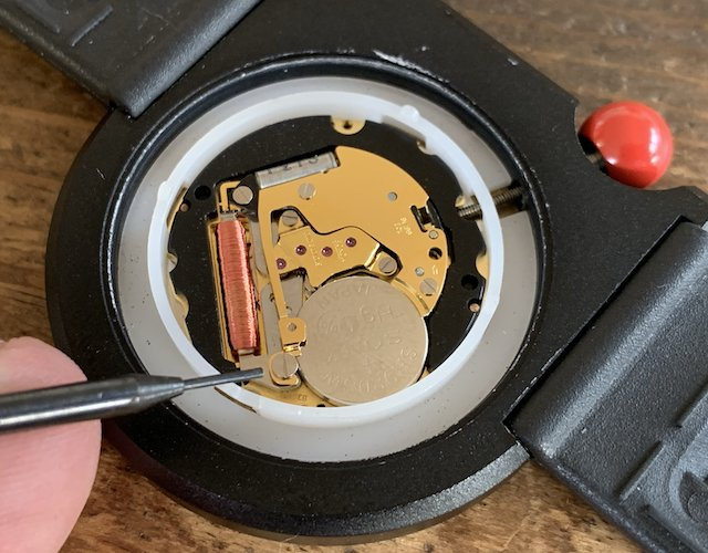 リップの時計の電池交換