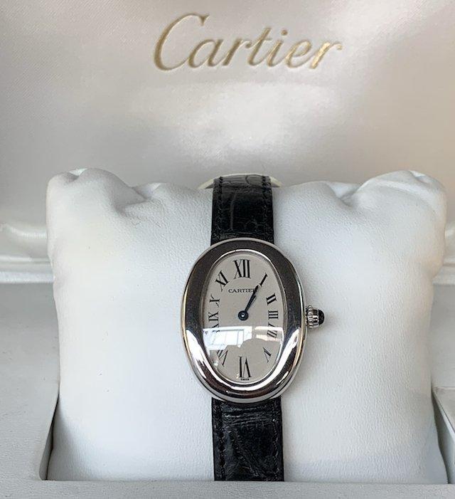 カルティエのアンティーク時計電池式クォーツ