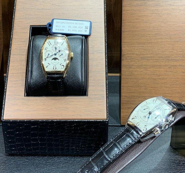 フランクミュラーのゴールド時計