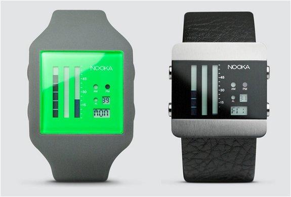 ヌーカのラバー時計とスレンレスの時計、個性的な腕時計