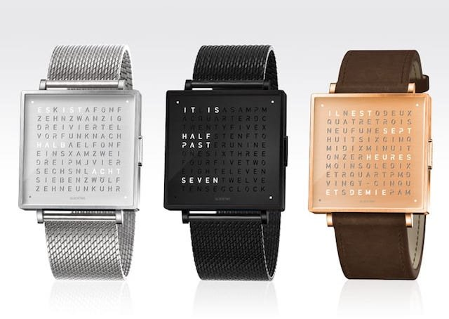 QLOCKtwoの(クロックツー)個性的な腕時計