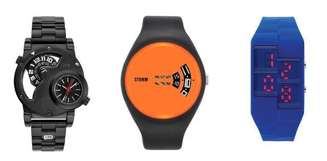 STORMストームの個性的な時計