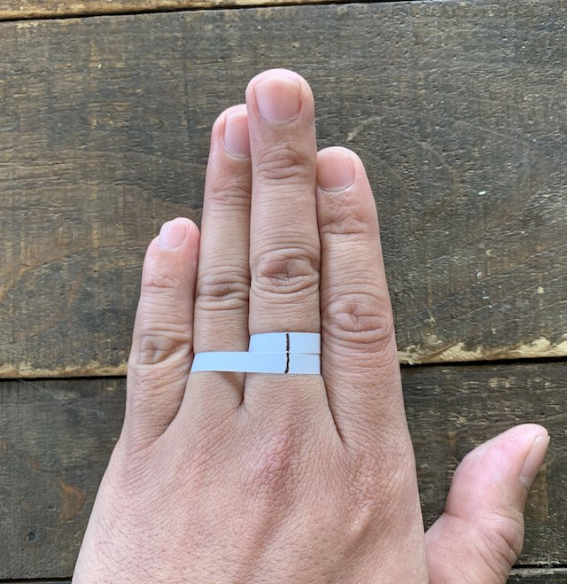 簡単な指輪のサイズの測り方