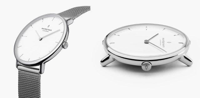 ノードグリーンのネイティブのレディース時計シルバー