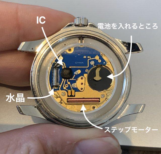 クォーツ時計のムーブメントの仕組み