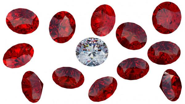 ルビーとダイヤモンド